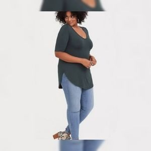 Torrid Plus Size Olive Favorite Tunic Top